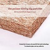 HBIAO Traspirante Materasso lettin, Respirabile Dimostrato per ridurre Il Rischio di soffocamento Lavabile Ipoallergenico Non tossico Materasso in Lattice Ecologico,50 * 120 * 5cm