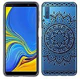 yayago Hülle für Samsung Galaxy A7 2018 Silikon Schutzhülle Hülle Case Backcover Tattoo Ornament Tribal Design transparent Tasche