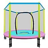 Net Zu Bewachen Kinder Prellen Bett,Falten Trampolin Indoor Prellen Home-A 121cm(48inch)