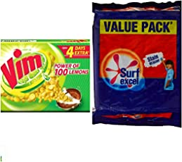 SURF EXCEL VALUE PACK (4 SOAP OF 200GM)+ VIM BAR(4 SOAP OF 120GM)