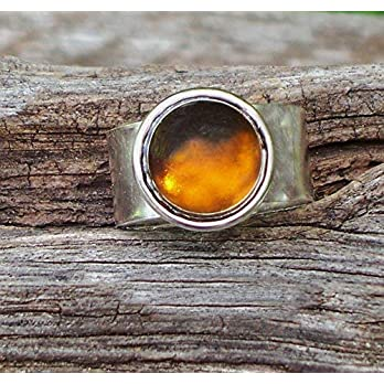 Bottled Up Designs Verstellbarer Ring aus recyceltem Vintage-Bleichkrug aus Glas