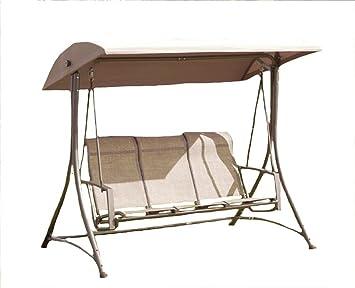 suntime 3 seater havana swing hammock with polyester canopy   black suntime 3 seater havana swing hammock with polyester canopy      rh   amazon co uk