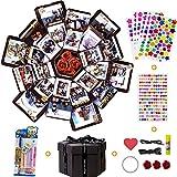 MMTX Explosion Gift Box Sorprese Romantiche Creative DIY Photo Album,La Confezione Regalo con 6 volti, Idee Regalo per Compleanno, Matrimoni, Anniversario Album Fotografico Fai da Te (Nero)