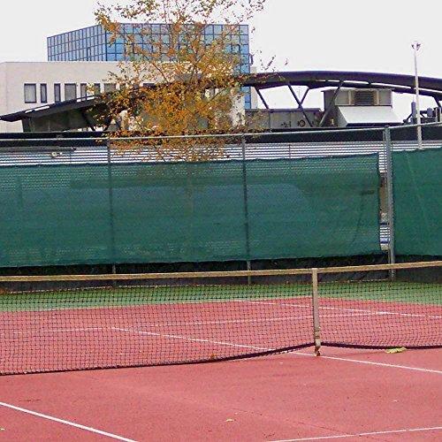 Sichtschutz Zaunblende Tennisblende Windschutznetz Schattiernetz grün 1 m x 25 m
