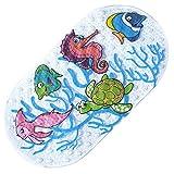 Rutschfest Baby Badteppich–jamhoodirect Kleinkind antibakteriell Badewanne, Dusche Matte 69cm x 38cm (68,6x 38,1cm)–langlebig Mehltau schimmelresistente PVC–Phthalate und bleifrei (Sea World)