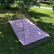 CFtrum Pirámide Mosquitera de Cama Individual de Camping (Cama Individual)