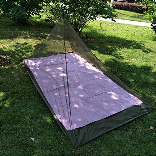 CFtrum Pyramide Camping Moskitonetz für Einzel Camping Bed, Kompakt und Leicht