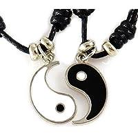 Collana AKIEE Yin Yang per uomo donna ragazzi ragazze ciondolo regolabile collana Taichi coppia migliori amiche migliori…