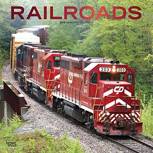 Railroads - Eisenbahn 2019 - 18-Monatskalender: Original BrownTrout-Kalender [Mehrsprachig] [Kalender]