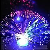 Prochive Optischer Brunnen aus farbwechselnden Fasern, buntes Nachtlicht, beruhigend, blinkend, Stimmungslampe, magisches Feuerwerk