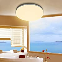 activeallbrite Deckenleuchte Badzimmer,18W Deckenlampe, 2200LM 3000K Warmweiß Deckenlampe, IP54 Wasserfest Ultra Dünn…