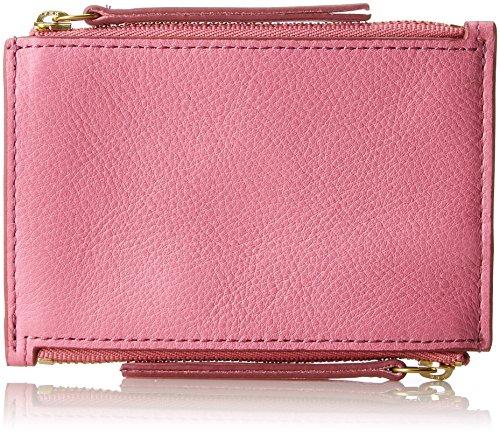 Fossil Damen Taschengeldbörse mit Doppeltem Reißverschluss Geldbörse, Pink (Pink), 0.97x8.57x12.38 cm (Schlüsselanhänger Fossil)