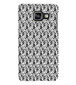 iFasho Animated Pattern black and white jasmin flower Back Case Cover for Samsung Galaxy A3 A310 (2016 Edition)