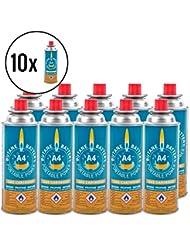 10x Butano battery® Gas cartucho 220gramos para camping cartucho eléctrica y barbacoas