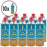 10x Butan Battery® Gaskartusche 220 Gramm für Camping Kartuschenkocher und Grills