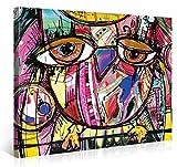 Premium Leinwanddruck 100x75cm – Doodle Owl – XXL Kunstdruck Auf Leinwand Auf 2cm Holz-Keilrahmen – Handgemachte Fotoleinwand In Deutsche Markenqualität Für Schlaf- Und Wohnzimmer Von Gallery Of Innovative Art
