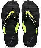 Nike Men's Black/Volt-Dark Grey Chroma Thong Flip Flops (833808-013)