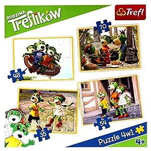 Puzzle 4w1 Przygody Treflików