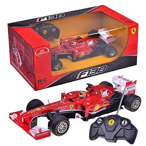 RC Auto kaufen Rennwagen Bild 6: FERRARI F138 - original RC ferngesteuertes Lizenz-Fahrzeug F1 Formel 1 Formula One im Original-Design, Modell-Maßstab 1:18, RTR inkl. Fernsteuerung*