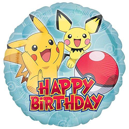 (Anagram Pokemon-Geburtstags-Kreis-Folien-Ballon (Einheitsgröße) (Blau))