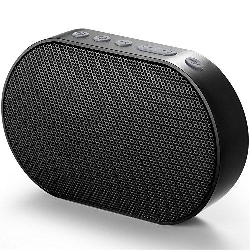 GGMM Smart Speaker Alexa Sprachsteuerung, Multiroomsystem, Smart Home Gerätekontrolle, WLAN/Airplay/DLNA/TuneIn, 10W, 2200mAh, Schwarz