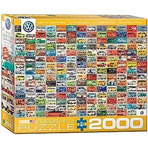 Eurographics 8220-0783 Volkswagen Groovy Bus Collage - Puzzle (2000 Piezas)
