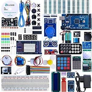 61DxdFvu gL. SS300  - Elegoo Conjunto Mas Completo y Avanzado de Iniciación a Arduino MEGA 2560 con Guías Tutorial en Español y Conjunto de Arduino con Placa Controladora MEGA 2560, LCD1602, Servomotor, Motor paso a Paso, Arduino Mega Kit Starter Kit