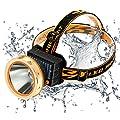Sloar Aufladbar LED Stirnlampe,SGODDE 80W Kopflampe,USB Wiederaufladbare Superhelle LED Kopfleuchten,mit 3 Helligkeits Wasserdichter Scheinwerfer für Nachtlese Campen Joggen,Laufen und Lesen