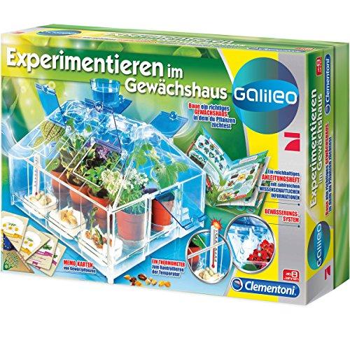 Galileo Experimentieren im Gewächshaus mit Samen, Pflanztöpfchen uvm: Experimentier Set Kasten