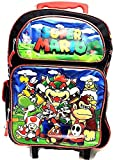 Grand Trolley Sac a Dos MARIO Primaire Cartable a roulettes 40 x 30