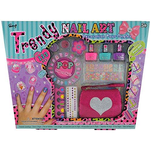 Gloss! Kit de Nail Art Trendy 133 Pièces, Coffret Cadeau-Coffret Maquillage