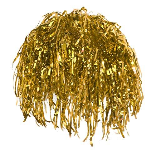 Regen Tanz Kostüm - Generic Karneval Folienperücke Lametta Perücke Kostümzubehör Kostüm Junggesellenabschied - Gold