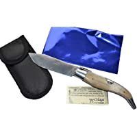 Couteau Celaya Classic Albacete Aluminium Pastora Corne Taureau 7 cm