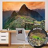 Machu Picchu papel pintado de fotografía – Suramérica ciudad en ruinas Machu Pichu cuadro mural – XXL cartel decoración de la pared by GREAT ART (210 x 140 cm)