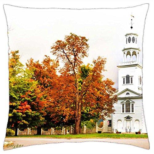 Church of Bennington, Vermont - Throw Pillow Cover Case (18