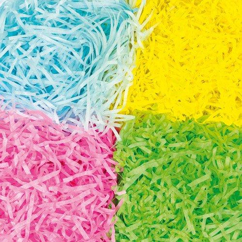 Carta a striscioline in colori primaverili per lavori artistici e creazioni pasquali fai da te (confezione)