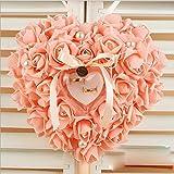 bpblgf H Forma de CorazóN Pastel Caja del Anillo Burbuja Flor Rosa Una Sola Capa 1, 4, 21 * 23cm