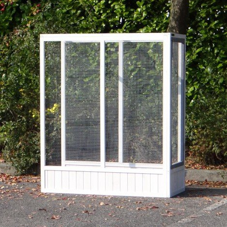 Animalhouseshop.de Anbau-Auslauf Voliere Hannah White-Grey 115x52,5x135,5cm