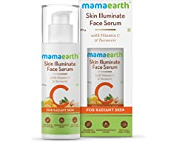 Mamaearth Skin Illuminate Vitamin C Face Serum For Glowing and Radiant Skin with High Potency Vitamin C & Turmeric; For Men a