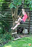 Rope Ladder Tree Swing - Solid Wood Tree House Rope Ladder with Tree Rope Attachments