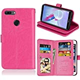 Huawei Honor 9 Lite Case, Huawei Honor 9 Lite Cover Thin Flip Cover Case Back Shell Cellphone Case Phone Case Compatible With Huawei Honor 9 Lite By Codream (Rosy)