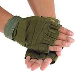Rrimin Cycling Half Finger Gloves for Fitness Mountaineering Riding Short Gloves Indoor Outdoor