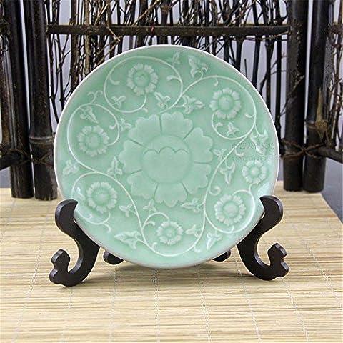 Plat en porcelaine de style européen de la plaque en céramique ustensiles assiettes en porcelaine Vaisselle bols table Hôtel plat de la plaque d'un seul grand disque plaque