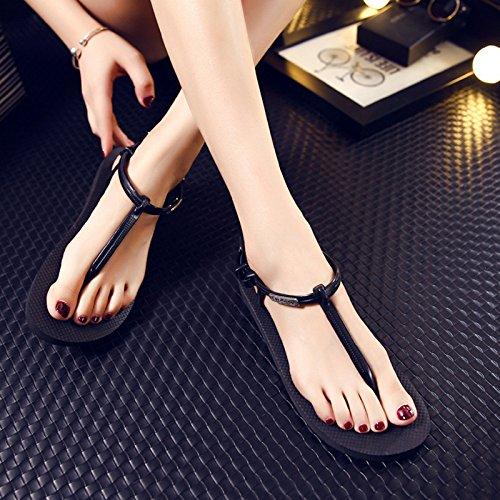 Estate moda donna sandali comodi tacchi alti,38 Bianco Black