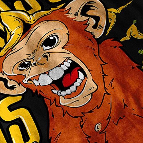 Banane Affe Wild Tier Damen S-2XL T-shirt | Wellcoda Black