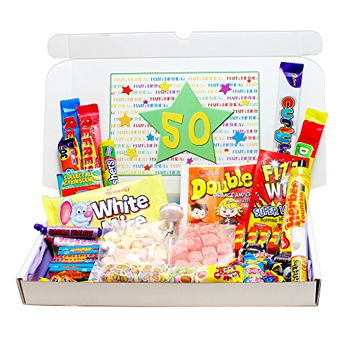 50th Birthday Sweets Gift Box - fits through the letterbox