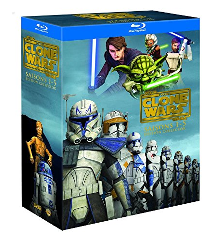 Star Wars - The Clone Wars - L'intégrale - Saisons 1 à 5 - Coffret Blu-Ray [Édition Collector]