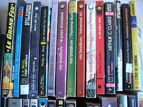 lot 60 livres fantasy / terreur / science fiction / épées et dragon : E.R. burroughs - franck morrisset - dan simmons - victor canning - henri vernes - john L. byrne - L. ron hubbard - J. L. fetjaine - J. P. andrevon - neal barrett jr - catherine kurtz - patrice duvic - stanislas lem etc...