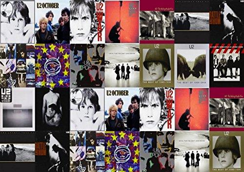 U2 20 Bono del borde Adam Clayton Larry Mullen Jr.gran Rock Metal diseño de álbum de fotos impresión única banda mejor A3 Poster