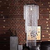 RIESIGER KRONLEUCHTER TROPICAL RAIN 150cm pompöser Lampenschirm mit Strasssteinen aus Acryl
